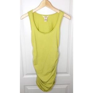 Sundance Bright Yellow Ruched Tank Top Tunic Sz S